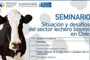 """Seminario: """"Situación y desafíos del sector lechero bovino en Chile"""""""